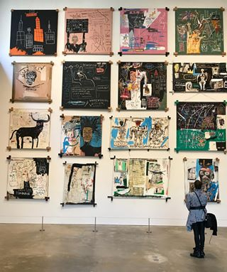 Basquiat as far as the eye can see #gztravels